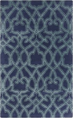 RugStudio presents Surya Mount Perry Mtp-1022 Navy Hand-Tufted, Good Quality Area Rug