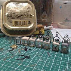 Image idea - diy lantern from metal can + thumbtack
