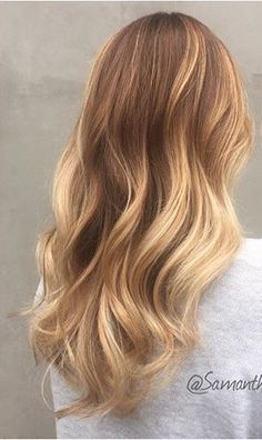Autumnal golden Bronde hair colour by Samantha Cusick from TaylorTaylor.   Would love to get same for myself :)
