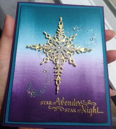 Star of Light & Starlight Thinlits Stampin' Up! Island Indigo & Elegant…