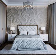 trendy bedroom bed back design Elegant Bedroom Design, Luxury Bedroom Design, Bedroom Bed Design, Elegant Home Decor, Luxury Home Decor, Luxury Interior Design, Home Interior, Home Bedroom, Bedroom Decor