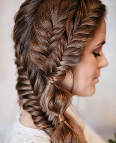 Braids on braids on braids! Love this by @hairbysaretta   PS. I've shared a list of my fave fishtail styles over on hairromance.com