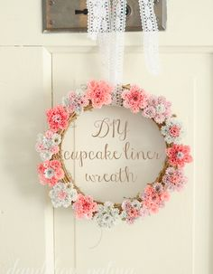 DIY Cupcake Liner Wreath-from The Everyday Home  #guestpost  @Dandelion