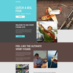 Sport Fishing Bootstrap Website Template