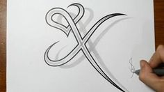 Drawing letter y with heart combined cool tattoo design idea drawing letter x combined with a heart design altavistaventures Image collections