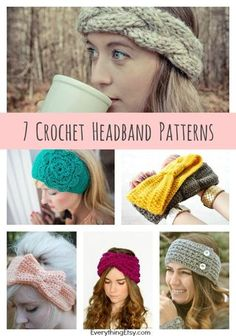 DIY Crochet Headband Patterns { 7 Free Designs} | Everything Etsy | Bloglovin'