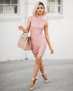 """""""Blush x nude  Dress from @mybandagedress - use code MICAH for 10% off """""""