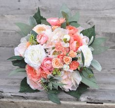 Holly's Wedding Flowers ships faux flower  bouquets worldwide  Find us on Etsy at Holly's Flower Shoppe.
