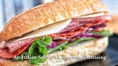 Italian Sub Sandwich - Father's Day - Sandwich Recipes Sandwich Jamon Y Queso, Salami Sandwich, Sandwich Recipes, Italian Hero Sandwich Recipe, Mortadella Sandwich, Italian Sandwiches, Hoagie Sandwiches, Cold Sandwiches, Subway Sandwich