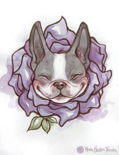 Rosa Boston Terrier by lindsaycampbell.deviantart.com