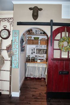 I would like to make the inside of the pantry look more like an old general store