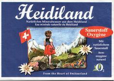 Heidiland Mineral water from Switzerland Agua Mineral, Swiss Chalet, Travel Goals, Alps, Wonderful Places, Make Me Smile, Switzerland, Places To Go, Germany