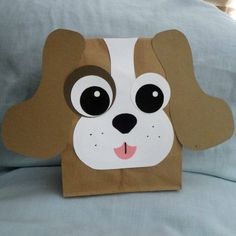 Made to Order - Set of 10 handmade Puppy design party favor treat sacks for your childs Puppy, Dog, Pet, Farm, Barnyard, Nursery Rhyme, Adoption or Animal theme birthday party! The bags can be customized in many colors. The bags are made of paper. Measurements are approximately 10 by 5 by 3
