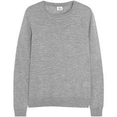 Iris and Ink Cashmere sweater (£125) ❤ liked on Polyvore featuring tops, sweaters, shirts, jumpers, grey, marled sweater, relax shirt, gray shirt, grey sweater and cashmere jumpers
