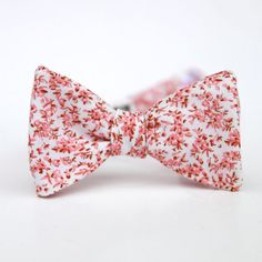 mens cherry blossom freestyle bow tie by xoelle on Etsy, $36.00