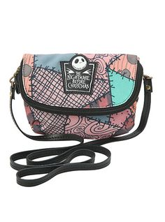 The Nightmare Before Christmas Sally Patchwork Canvas Crossbody Bag | Hot Topic