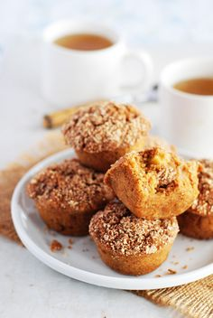 Apple Crumble Muffins (Gluten-Free, Vegan)