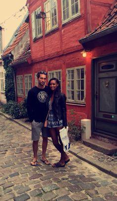 Models Tobias sorensen and Jasmine tookes in Copenhague