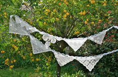 Wedding Banner Wedding Bunting Doily Boho Wedding Decor