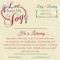 Let There Be Joy - Day 1 — Just Joy Ministries