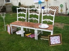 I'd like to do this but with more rustic chairs... off to the flea market I go...