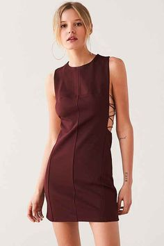 ef2a7aec607 Silence + Noise Lexie Crisscross-Side Bodycon Mini Dress