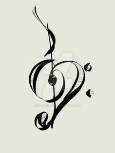 DeviantArt: More Like Music to My Ears tattoo design by Furzzy15