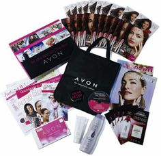 Updated 2016 Avon Representative Starter Kit - Brochures, full size products, training materials, etc. $15 to start your own business selling and sharing AVON