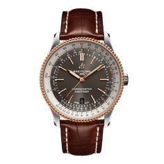 Worldwide Watches Magazine Breitling Navitimer, Breitling Watches, Sleek Rose Gold, Wolf Watch, Or Rouge, Bracelet Cuir, Automatic Watch, Stainless Steel Bracelet, Red Gold