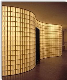 glass block wall - glass / acrylic  building blocks - easier to create curves & to light up