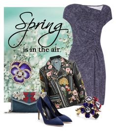 """""""Spring is in the Air"""" by leptismagna ❤ liked on Polyvore featuring Diane Von Furstenberg, Gucci, Alexander McQueen, Rupert Sanderson, Oscar de la Renta, daytoevening and spring2016"""