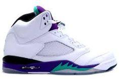 new concept 74563 d377e Discount Air Jordan 5 Retro Grape White New Emerald-Grape Ice-Black (Women  Men Gs Girls) Clearance Sale