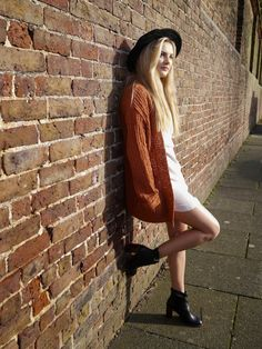 Niomi Smart Dress - ASOS Cardigan - Urban Outfitters Hat - Urban Outfitters,