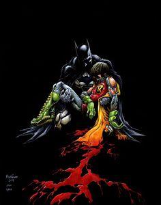 Batman (Death in the Family) Comic Art Comic Book Characters, Comic Book Heroes, Comic Books Art, Comic Art, Batman Art, Batman And Superman, Batman Robin, Gotham, Arte Dc Comics