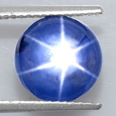 5.69 Cts Natural Lustrous 6 Rays Sharp Blue Star Sapphire Unheated Round Cab 9mm