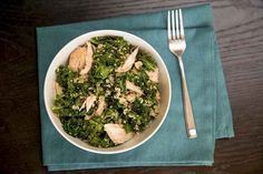 Roast Chicken Bowl With Quinoa and Kale