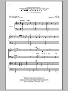 Don Besig: Come And Rejoice! - Partition SATB - Plus de 70.000 partitions à imprimer !