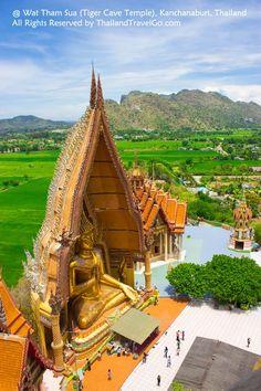 Wat Tham Sua (Tiger Cave Temple), Kanchanaburi, Thailand, attractions in…