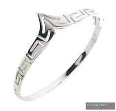 Meander-Greek Key  Sterling Silver Bracelet by culturetaste