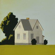 Painting - Contemporary Farmhouse Painting - Custom Made - Modern Farm  - 24 x 24 Inches - Green Painting - Honey Dew Farm