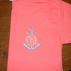 Monogrammed Anchor T Shirt by SewChicNC on Etsy, $16.00 I LOVE this! Jesus is the anchor of my soul.(-: