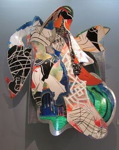 Nightgown, 1990. Mixed media on aluminum by Frank Stella. (rocor/Flickr)