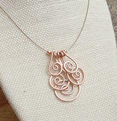 Copper+Necklace+Minimalist+Copper+Spiral+by+Karismabykarajewelry,+$24.00