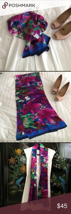 "listing...Cynthia Rowley silk scarf EUC! Worn less than 3 times. Floral scarf 100% silk 66""x14"" Cynthia Rowley Accessories Scarves & Wraps"