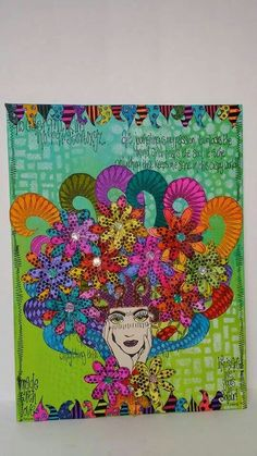 Donna Oduber for THE DYAN REAVELEY SOCIETY OF ART JOURNALING Gateway Group on canvas