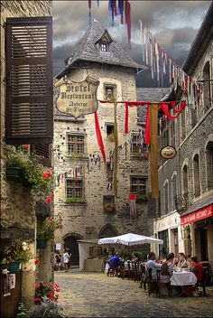 Aveyron, a midieval village in the Pyrenees, France