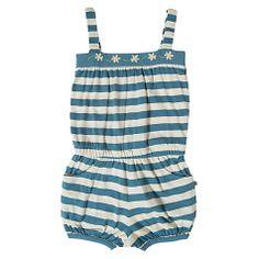 Buy Frugi Girls' Stripe Jersey Playsuit, Blue/Cream Online at johnlewis.com