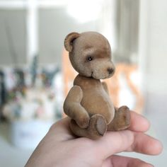 Artist bear Vince collectable handmade miniature by LunaticShop