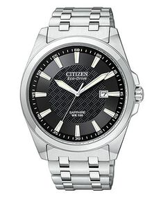 Citizen Watch, Men's Eco-Drive Stainless Steel Bracelet 41mm BM7100-59E - Men's Watches - Jewelry & Watches - Macy's