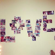 Dorm room photos on wall